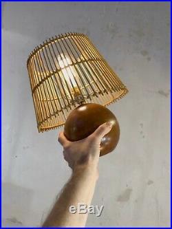 1970 2 LAMPES MODERNISTE BRUTALIST SHABBY-CHIC ART POPULAIRE Audoux-Minet