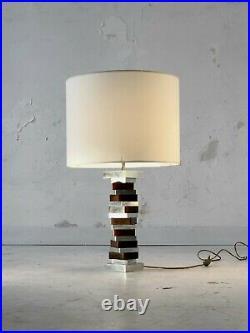 1970 LAMPE CINETIQUE POST-MODERNISTE SHABBY-CHIC SPACE-AGE Maison Charles Jansen