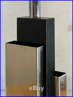 1970 LAMPE POST-MODERNISTE CONSTRUCTIVISTE MEMPHIS Jansen Kappa Willy Rizzo