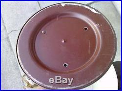 2 lampes design art deco bronze abat-jour tole st bouillotte genet michon lamp