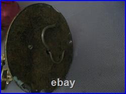 3003 luminaire paire d' applique mural lampe bronze ciselé et verre ancienne