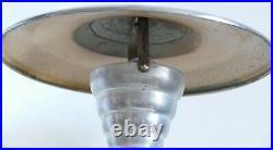 ANCIENNE LAMPE CHAMPIGNON métal Chromé et aluminium EPOQUE ART DÉCO MODERNISTE