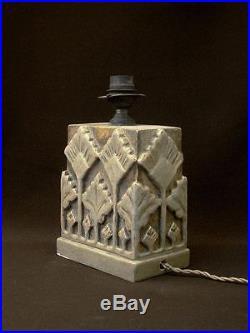Lampe Art Deco A Voir Superbe Pied De Lampe Ceramique Epoque Art