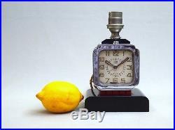 A Voir, Belle Lampe Pendulette Borne Vintage Art Deco Vers 1930 Cotna Electrique