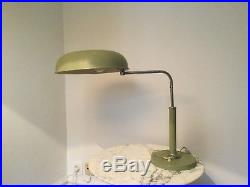 Alfred MÜLLER design Lampe LONG NECK KIRBY BEARD moderniste Art déco DESK LAMP