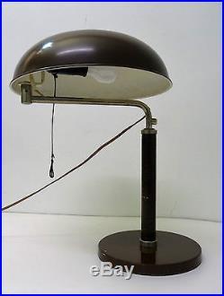 Alfred MÜLLER design Lampe bureau moderniste Quick 1500 Art déco desk lamp style