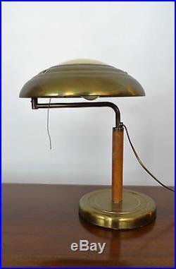Alfred MÜLLER design Lampe bureau moderniste desk lamp Art déco