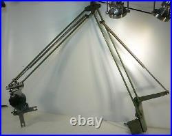 Ancien Bras articulé Franz Kuhlmann, pour lampe éclairage industriel dessin