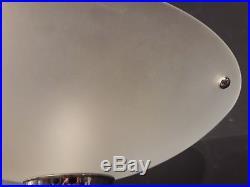 Ancien LAMPADAIRE ART DÉCO coupe en verre dépoli lampe sur pied