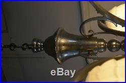 Ancien Lustre Art Deco Année 50 60 70 Plafonnier Lampe