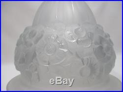 Ancien Obus Globe Dome De Lampe En Verre Maison P Gilles Art Deco