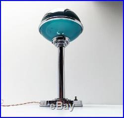 Ancienne Lampe ART DECO Bauhaus ILRIN Jlrin Modernist Table Lamp 1920 1930's