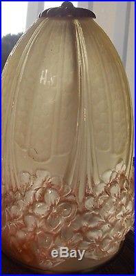 Ancienne Lampe A Poser Art Deco Muller Freres Signee Hettier Et Vincent 1930