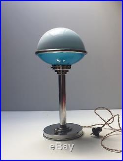 Ancienne Lampe Art Deco Bauhaus ILRIN old french modernist table lamp Jlrin 1930