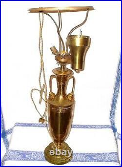 Ancienne Lampe Art Deco Malabert Visages D'hommes Aux Turbans! No Jielde Design