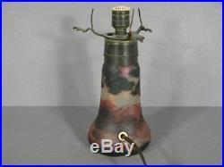 Ancienne Lampe Champignon Pte De Verre Signée Devez / Lampe Art Nouveau Devez