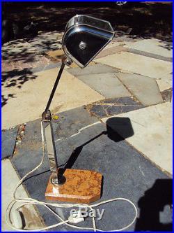 Ancienne Lampe De Bureau Art- Déco Pirouette