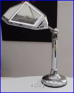Lampe Art Deco Ancienne Lampe De Bureau Reglable En Chrome 1930