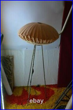 Ancienne Lampe De Chevet Liseuse Tripode Année 50 Art Deco Modernisme