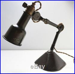 Ancienne Lampe GRAS oculiste Art Deco Bauhaus Table Lamp era Le Corbusier 1930
