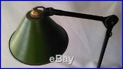 Ancienne Lampe Industrielle Applique À Double Bras Articulés Loft