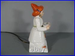 Ancienne Lampe Veilleuse Brûle-parfum Style Art Déco Robj Représentant Aladin