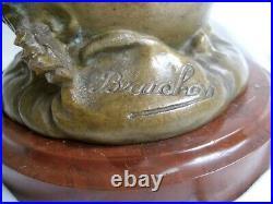 Ancienne Lampe à Pétrole Statue femme signée