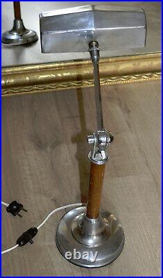 Ancienne Lampe de bureau Pirouett Art Déco Design 1930