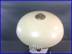 Ancienne belle lampe de bureau Art Déco socle en marbre abat jour en tole