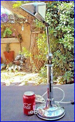 Ancienne grande lampe pirouette art-déco début 20 ème