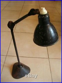 Ancienne lampe Ajustables Gras breveté type 205 en métal déco atelier industrie