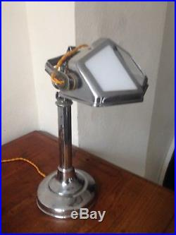 Ancienne lampe de bureau PIROUETT, PIROUETTE art déco chromé hauteur réglable