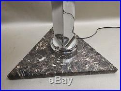 Ancienne lampe de bureau art déco chromée industriel vintage Lamp