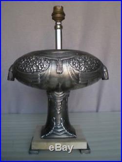 Ancienne paire pied de lampe art deco 1920 1930 antique sculpture lamp statue