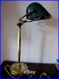 Ancienne rare grande lampe de bureau notaire ou banquier Monix Paris 3001 4001