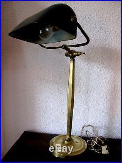 Lampe Art Deco Ancienne Rare Grande Lampe De Bureau Notaire Ou