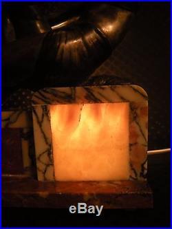 Ancienne veilleuse lampe sculpture art deco 1930 femme antique woman statue lamp