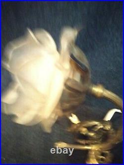 Applique art déco bronze fleur luminaire lampe lumière décoration