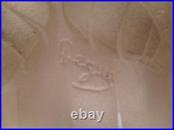 Applique murale tulipe lampe verre pressé moulé art déco DEGUE monture fer forgé
