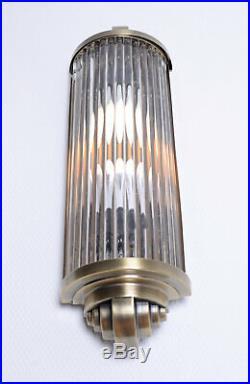 Art Déco Éclairage de Cinéma Applique Murale Bauhaus Lampe Kinolampe Chrome Glas