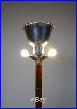 Art Déco Lampadaire Brevette Arthur Lampe Couvrir Fluter Antique Mazda