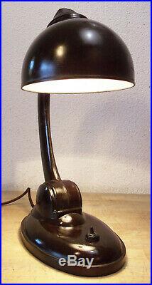 Art Deco Lampe Bakelite Bauhaus E K Cole 11126 Bordeaux Superbe Condition