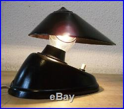 Art Deco Lampe Bakelite Streamline Bauhaus 11041 Bordeaux Superbe Condition