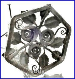 Art Déco Pied de Lampe en fer forgé époque 1900/20 lampe Daum Muller