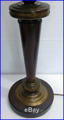 Authentique LAMPE de bureau époque ART DECO 1930 tulipe opaline