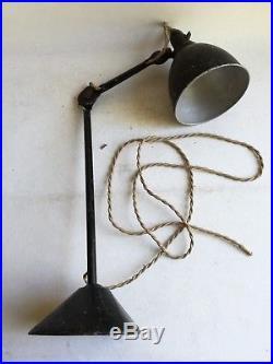 Authentique Lampe Gras Ravel 205 Art Déco Design Industriel Vintage Table Lamp