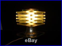 Authentique Lampe Moderniste Cubique Art Deco Desny Vers 1930