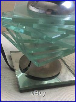 Authentique Lampe Moderniste Époque Art Deco Desny