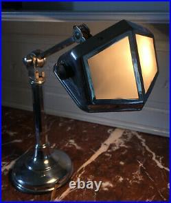 Authentique lampe Pirouett Art Déco années 30' Chrome design