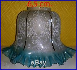 Baccarat St Louis Clichy Tulipe Tulip Pour Lampe Pétrole Lamp Oil 2